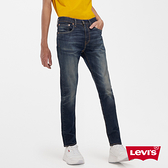Levis 男款 上寬下窄 512 低腰修身窄管牛仔褲 / 復古立體刷白 / 彈性布料