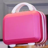 化妝箱 收納包迷你大容量手提箱子小行李箱多功能 BF9841【花貓女王】