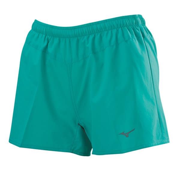 Mizuno  素色短版 女路跑褲-珊瑚綠 J2TB625837