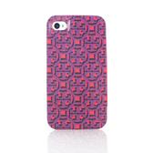 [破盤出清價]TORY BURCH經典LOGO圖紋iPhone4/4S手機保護殼(紫紅色)151017