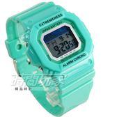 SKMEI 時刻美 時尚防水電子運動流行腕錶 夜光 日期 計時碼表 EX6918綠