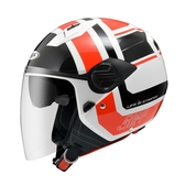 【東門城】ZEUS ZS213 AX5(白紅) 半罩式安全帽 雙鏡片
