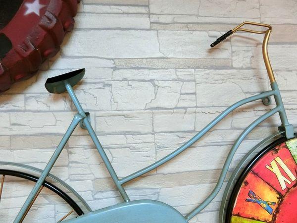 彩色自行車掛鐘《FC22》鐵製造型掛鐘 鐵藝掛鐘 美式掛鐘 鄉村壁鐘 壁鐘 LOFT【絢寓居家】