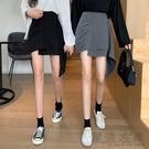 夏季2020新款港味不規則裙子復古黑色包臀高腰A字顯瘦半身短裙女