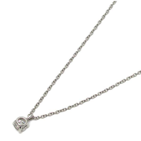 Tiffany & Co 蒂芬妮 Solitaire系列 0.21克拉單鑽鑽石鉑金項鍊【二手名牌 BRAND OFF】