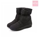 輕量雙層防水防滑加厚保暖雪靴 黑 *MO...