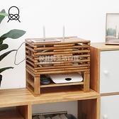 樂奈奇路由器收納盒電線整理線盒壁掛無線機頂盒插線板wifi置物架 NMS設計師生活百貨