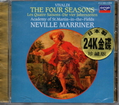 停看聽音響唱片】【CD】VIVALDI:THE FOUR SEASONS A.S.M.I.F/MARRINER(日本製(24K金碟)