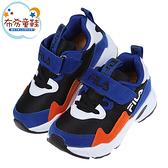 《布布童鞋》FILA康特杯系列黑藍色復古潮流兒童運動鞋(16~22公分) [ P1R22VD ]