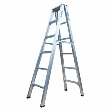 六層鋁製馬椅梯 - 腳架加強版