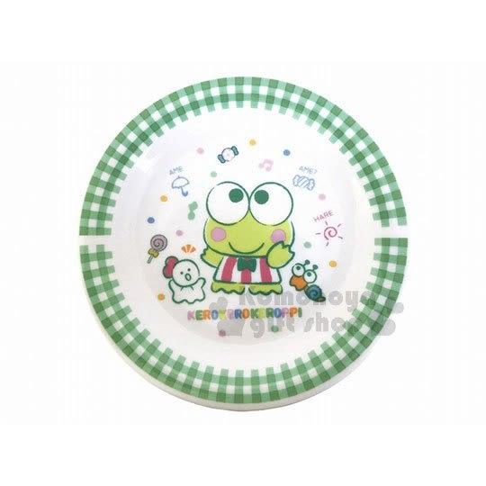 〔小禮堂〕大眼蛙 日製陶瓷圓盤《M.白.格紋.站姿.點點.糖果》精緻盒裝.日本金正陶器 4964412-30518