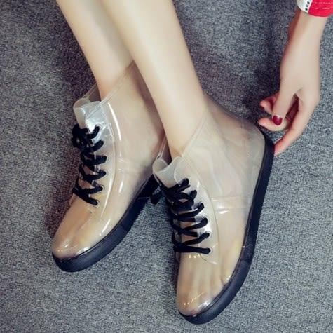 新款韓版時尚女士休閑雨鞋春夏雨靴馬丁雨鞋水鞋膠鞋套鞋短筒雨鞋❤寶可萌❤