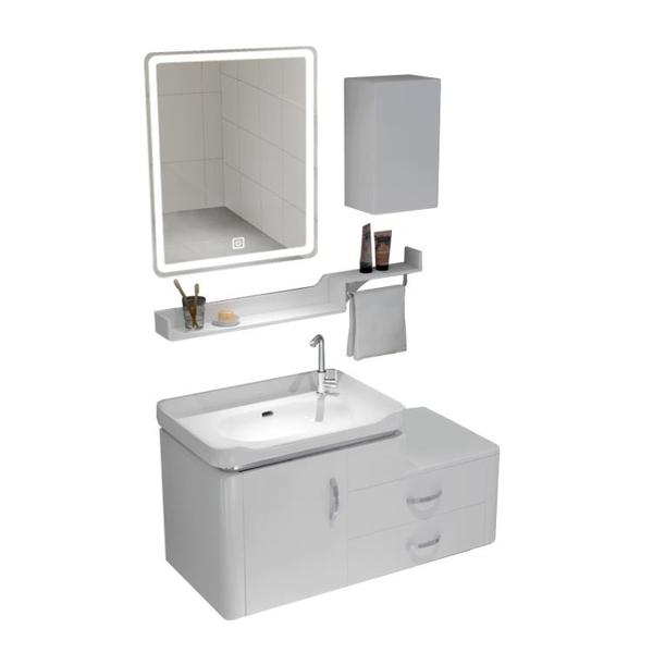 衛浴智慧pvc浴室櫃組合小戶型洗臉盆櫃洗手面池洗漱台衛生間吊櫃 NMS小明同學