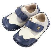 Swan天鵝童鞋-牛津雕花學步鞋1445-藍