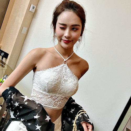 克妹Ke-Mei【AT57432】Magic超爆!!大奶系列可外穿釦環吊頸蕾絲馬甲內衣