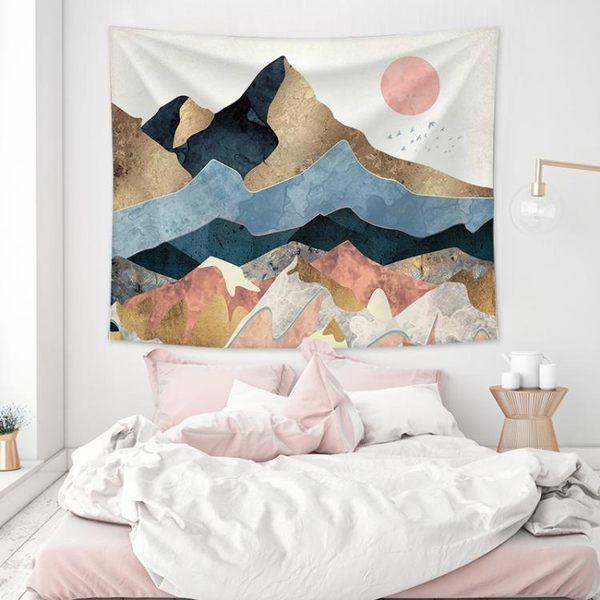 抖音掛毯掛布ins背景布北歐風臥室房間宿舍床頭裝飾網紅拍照墻布歐歐流行館