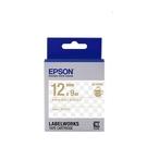 EPSON LK-4TKN 原廠標籤帶 (透明12mm )透明金 C53S654409