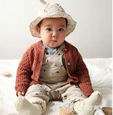 春裝男女寶寶燈芯絨帽子嬰兒保暖帽子盆帽42-50公分 小確幸生活館