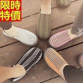 編織鞋(單雙)-時尚簡約舒適套腳懶人手工男女休閒鞋5色69t7[時尚巴黎]