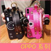 【萌萌噠】OPPO R9s R11s plus R15 網紅抖音同款腕帶支架 相機保護殼 同款創意掛繩組 全包防摔軟邊