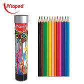 【法國 Maped】學用筒裝彩色鉛筆12色(832044) / 筒