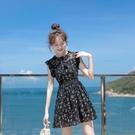 無袖連衣裙 2021夏季新款沙灘裙女小個子無袖連衣裙仙女裙短款修身顯瘦小黑裙 快速出貨
