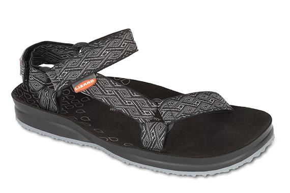 Lizard 義大利 CR溯溪者 黃金底涼鞋-PU LI11552/EB黑彩紋 涼鞋 拖鞋 水陸鞋【易遨遊】