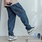 【OBIYUAN】牛仔長褲 歐美 重磅 單寧褲 寬褲 共2色【T1912】