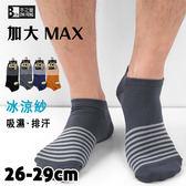 冰涼紗 加大船襪 橫紋款 台灣製 本之豐