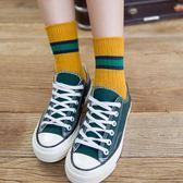 女短襪 中筒襪 秋冬女款加厚保暖棉襪復古拼色棉襪短靴女襪堆堆襪保暖襪子《小師妹》yp980
