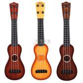 吉他玩具 兒童小吉他玩具可彈奏仿真迷你尤克里里樂器琴男女寶寶音樂 俏女孩