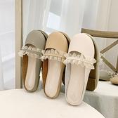 半拖鞋 包頭半拖鞋女外穿網紅平底涼拖鞋2020年新款夏季學生小清新穆勒鞋 風尚3C