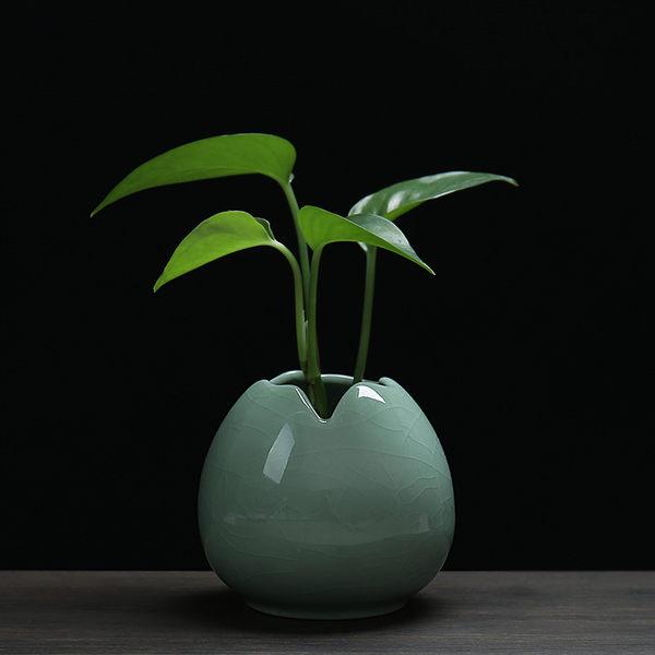 花瓶小清新青瓷客廳擺件簡約小花器家居裝飾品水培花插花瓶陶瓷 喵小姐