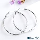 鋼耳環 ATeenPOP 簡約女孩 圓圈耳環 圓環耳環 圈圈耳環 抗過敏鋼針 一對價格 多款任選