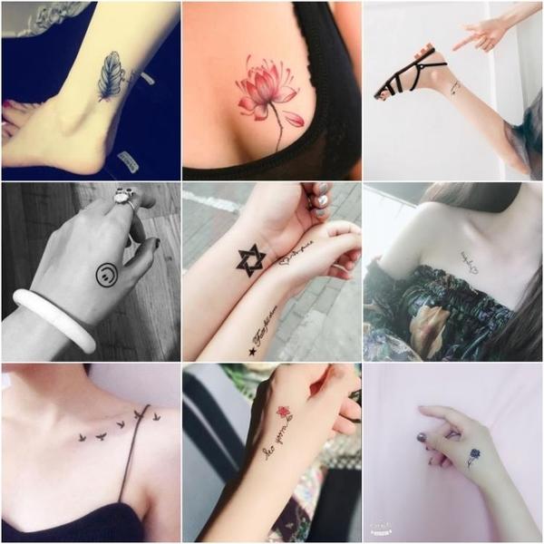 60張 紋身貼男女防水仿真性感刺青貼紙彼岸花 樂淘淘