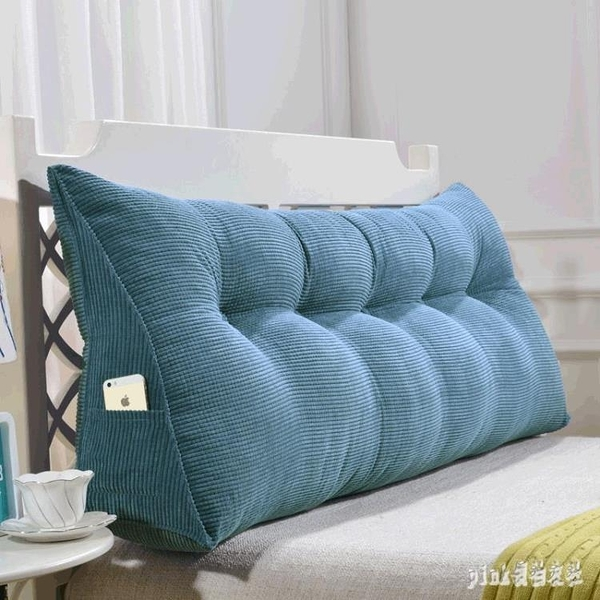新款床頭上板背三角護腰枕純色沙發床上大靠枕軟包推薦 qf28739【pink領袖衣社】