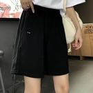 短褲女夏季寬鬆ins黑色五分運動休閒高腰寬管褲顯瘦學生百搭BF潮 【端午節特惠】