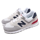 New Balance 復古慢跑鞋 NB 574 灰 藍 麂皮 舒適大底 男女鞋 運動鞋【PUMP306】 ML574UJDD