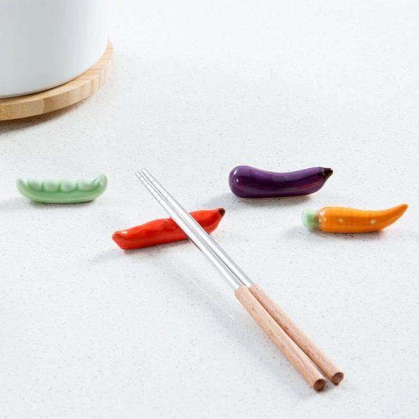[超豐國際]陶瓷蔬菜筷子架家用筷枕托筷架創意放快子勺子的架子筷子托