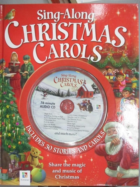 【書寶二手書T1/少年童書_QOH】Sing-Along Christmas Carols_附光碟_Hinkler Books Pty, Limited
