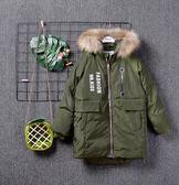 雙十二狂歡 2018年冬裝新款男童女童真毛領中長款羽絨服外套上衣NH163 挪威森林