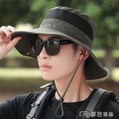 戶外釣魚登山帽子男士夏天遮陽帽沙灘防曬帽太陽帽夏季漁夫帽男      麥吉良品