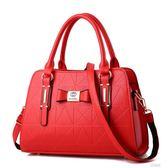 手提包女士包包時尚手提包中年女包媽媽包韓版單肩包百搭斜挎包       艾維朵