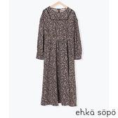 「Hot item」復古碎花蕾絲拼接喬其紗洋裝 (提醒-SM2僅單一尺寸) - Sm2