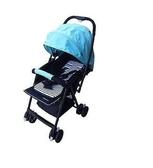 [家事達] Mother's love-C829 加寬版輕量雙向秒縮車 嬰兒推車-藍色 特價 抗UV