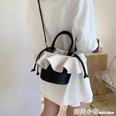 夏天撞色小包包女包2020流行新款潮時尚百搭斜挎包網紅手提水桶包 蘇菲小店