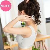 (M-XXL)時尚運動細緻蜂巢無痕透氣背心式內衣_灰色【Daima黛瑪】7979