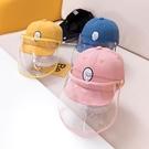 嬰兒帽子春秋薄款幼兒防飛沫寶寶遮陽鴨舌帽夏季兒童防護男女小孩