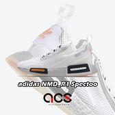 adidas 休閒鞋 NMD_R1 Spectoo 白 銀 男鞋 NASA 美國太空總署 【ACS】 FX6818