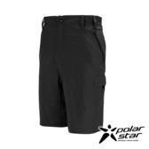 PolarStar 男 抗UV排汗彈性短褲『黑』P17341 及膝西裝褲│休閒褲│吸濕排汗│直筒褲│大尺碼3L